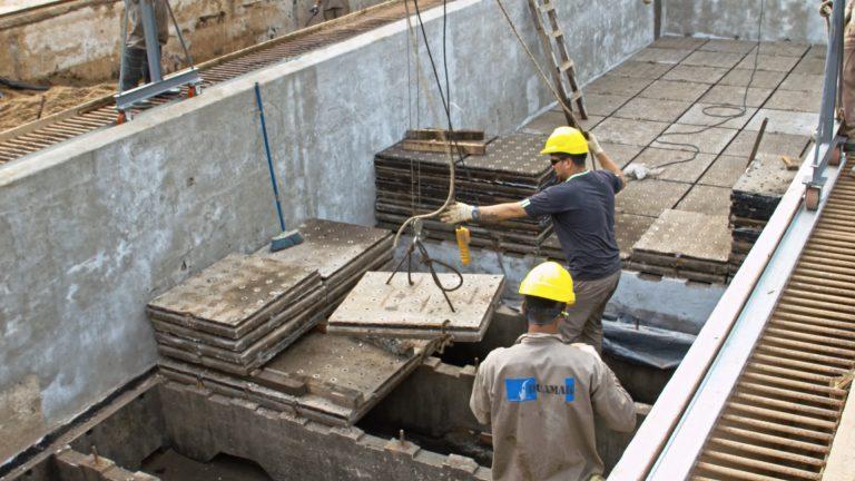Reparación Batería de Filtros «D» – Planta Potabilizadora Rosario